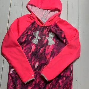 Girls Under Amour Camo Storm1 Hoodie - Size 10/12
